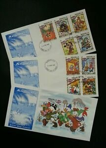 [SJ] Anguilla Walt Disney Dickens Christmas Story 1983 Mickey Donald Cartoon FDC