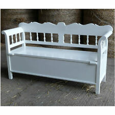 Scandinavian Bench Antique White - New - In Stock