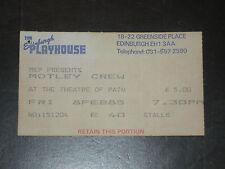 MOTLEY CRUE 1985 TICKET STUB**EDINBURGH PLAYHOUSE SCOTLAND**FEBUARY 8, 1985