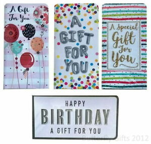 Birthday Money Wallet + Envelope Gift Present Card Voucher Cash Wrapped