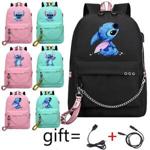 Anime Kawaii Stitch Backpack Boys Girls SchoolBag Teenage Harajuku Shoulder Bags