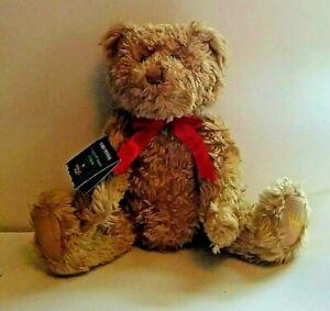 Hallmark Teddy-Tennial Plush Brown 100th Anniversary Jointed Teddy Bear 2002