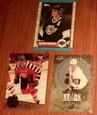 Lot of 3 Wayne Gretzky Los Angeles Kings Hockey Cards