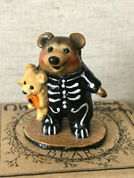 Wee Forest Folk Nightie Bear Skeleton LE NIB