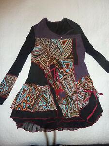 Joe Browns 16/18 Long Tunic Short Dress Beautiful Design Layers & Colourful Mix