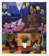 St Kitts 2016 MNH World Famous Paintings Gauguin Hopper 3v M/S II Art Stamps