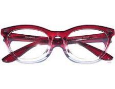 ddb10e21daa NEW VINTAGE RETRO RED FRAME WOMEN MEN CLEAR LENS EYEGLASSES GLASSES