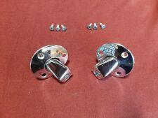 Holden HK HT HG  sunvisor mounts sun visor chrome pivots with screws and bushes