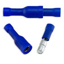 Blue Solderless Crimp Bullet Plug Connector Male-Female 16-14 GAUGE