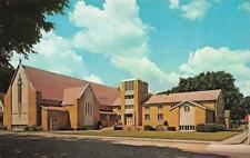 MOUNT PLEASANT, IA Iowa  FIRST UNITED METHODIST CHURCH Henry Co Chrome Postcard