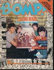 Bomp! March 1979 Rock Magazine Talking Heads Cover Stiv Bators Greg Kihn