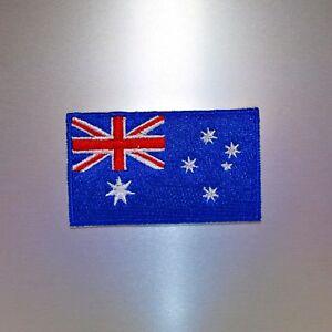Australian Flag Patch (Mini) — Iron On Badge Embroidered Motif — Australia Aus