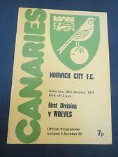 Norwich V Wolves  1973/4