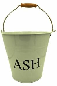 Traditional Style Ash Bucket Metal Fireside Storage Coal Bin Skuttle with Handle