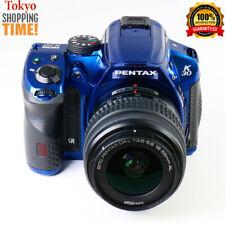 Pentax K-30 Digital SLR Camera Crystal Blue Body + 18-55mm Lens NEAR MINT Cond.