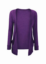 GIRLS KIDS LONG SLEEVE BOYFRIEND CARDIGAN SCHOOL TOP OPEN POCKET AGE 7 -13 YEARS