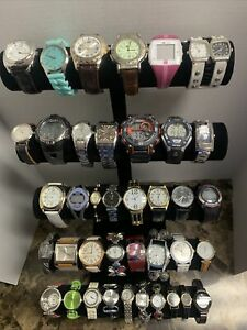 Huge Quartz Watch Lot - Lucien Piccard, Fossil, DKNY, Timex +More-39 Watches!