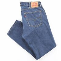 Vintage LEVI'S 505 Blue Denim Regular Straight Jeans Mens W38 L32