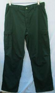 FSS Green Flame Resistant Aramid Wildland Fire Fighting Pants Sz. 34-38 X 34