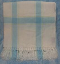 Amy Coe Limited Edition Blue White Baby Blanket Plaid Finge
