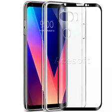 Tempered Glass Screen Protector + Crystal Case Cover for LG V30+ US998 Cellphone