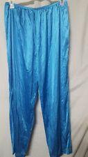 "Green Lounge Sleep Pajama Pants Silky Nylon Unisex Men's Women's Size Large 32"""