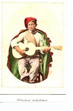 Italie, Chanteur ambulant  Vintage albumen print. Costumi Italiani Tirage albu