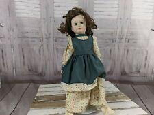 Heritage dolls brunette 16-in toy porcelain