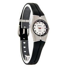 Armitron Ladies Mini Thin Sport Black Rubber Band Quartz Watch 25/6355