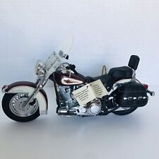 Franklin Mint 1/10 1989 Harley Heritage Softail Classic Motorcycle Maroon
