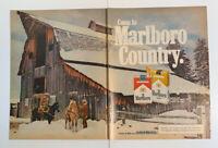 1977 Come To Marlboro Country Cowboy Cigarette Man Richard Prince Print Ad 2 Pg