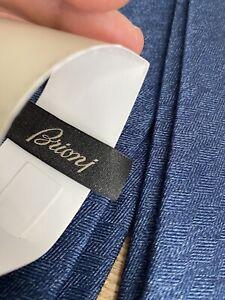 Brioni Tie Navy Blue BNWT 7cm 100% Silk RRP £190
