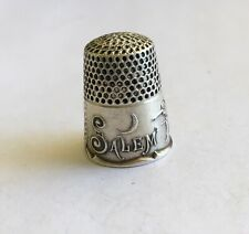 Antique Sterling Signed Ketcham & McDougall Salem Witch Thimble