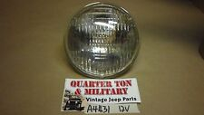 "Jeep Willys MB GPW DODGE WC 12 volt headlight bulb 5 3/4"" Fits Correctly"