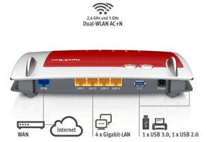 AVM FRITZ!Box 4040 WLAN Router für Anschluss an Kabel-/DSL-/Glasfasermodem USB