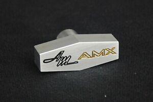 AMC AMX Custom Billet Aluminum Air Cleaner Wing Nut  CNC Machined Engraved GOLD