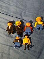 Bundle Lego Duplo Figures Train Conductor Mechanic And A Playmobil Figure Too
