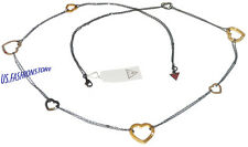 GUESS Damen Schmuck Edelstahl Herzen Kette Rhinestone Halskette Necklace Beauty