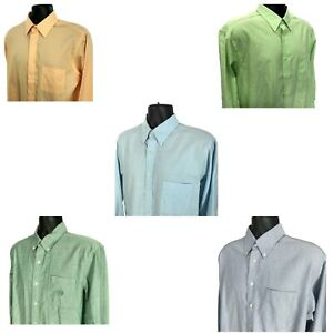 Lot of 5 Mens Oxford Shirts Sz L Large 16 16.5 x 32/33 Chaps Jos A Bank Stafford