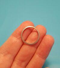 Vintage Antique Art Deco Iridium Platinum  Wedding Ring Band Size 6.25 6 1/4