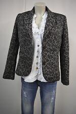 H&M  Damen Jacquard  Blazer  Jacke  EUR. 42 Graphit Geblümt TOP