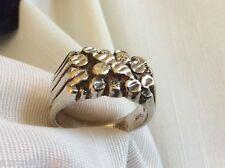 Men's VTG sterling silver 925 Sz 12 10.5 g ring band large cluster