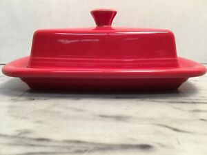 HLC Fiestaware Scarlet Fiesta Red XL Extra Large Covered Butter Dish New 1431