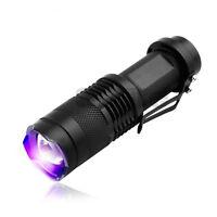 CREE LED UV Flashlight SK68 Purple Violet Light UV 365nm Torch