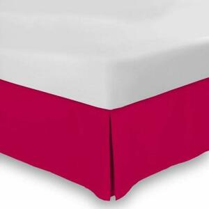 Drop Length 1 PC Bed Skirt 1000 TC Egyptian Cotton US Cal King Sizes & Color