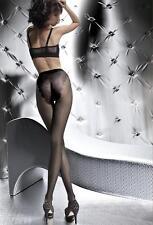 Klara pantyhose French Cut Lace Panty SMALL tights Fiore BLACK  20 den
