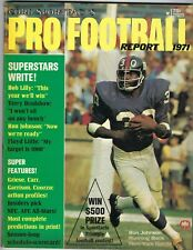 1971 Cord Sportfacts Football magazine, Ron Johnson, New York Giants VG