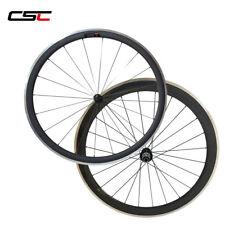 CSC 23mm wide 38+50mm Clincher carbon road bike wheels carbon wheels alloy brake