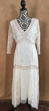 M Nataya age of love Downton Abbey dress gown gold embroidery bridal medium