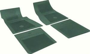 OER 4 Piece Dark Green Floor Mat Set With Bow Tie 1958-1981 Chevrolet Models